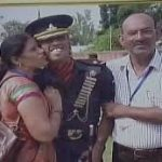 Capt Ayush Yadav with his parents