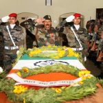 Final Honours to Hony Lt Madan Lal Choudhary