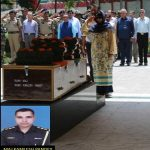 Final honours to Maj Kamlesh Pandey