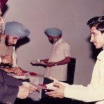 Capt Atul Sharma graduating from his PU college