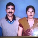 Hav Gajendra Singh with his wife Vinita