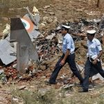 IAF Officials Inspecting the Crash Area