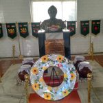 Subedar Joginder Singh's bust at the war memorial at Tawang