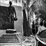 Captain Kenguruse's mother at his brave son's memorial