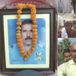 Friends and relatives pay their last respects to Master Warrant Officer A K Singh