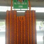 A bust of Major Vikas Yadav at Maj Vikas Yadav chowk named after him