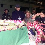 Major Sylvester Rajesh Ratnam's mother paying tributes to her son