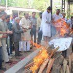 Brig Manuhar Sharma was cremated