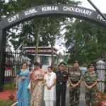 The memorial of Capt Sunil kumar Choudhary