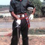 Capt Vinayak Gore as a young Lt