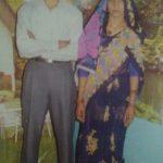 Lance Naik Prahald Singh Pachahara with his wife Radha Devi