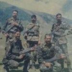 Lance Naik Prahald Singh Pachahara with his mates at a forward location