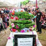 Major David Manlun's mortal remains