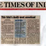TOI Article on Major Udai's Sacrifice