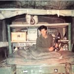 Capt Vinayak Gore in his bed in a forward area