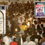 People paying their last respects to Lt Col Manish Shashikant Kadam