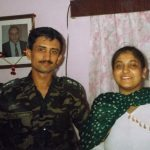 Capt Sharma with his sister