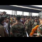 wreath laying ceremony of Major Arvind Bazala Matyred in Sukna Helicopter Crash